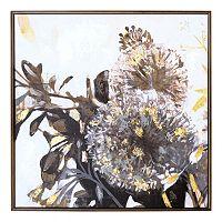 New View Metallic Dandelion Framed Canvas Wall Art