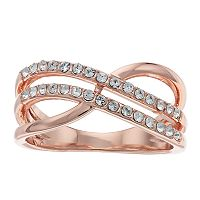 Brilliance Twist Ring with Swarovski Crystals