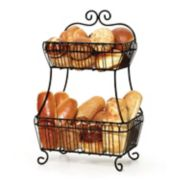 Gourmet Basics French Countryside 2-Tier Flatback Basket