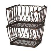 Gourmet Basics Loop & Lattice Rectangular 2-Tier Basket