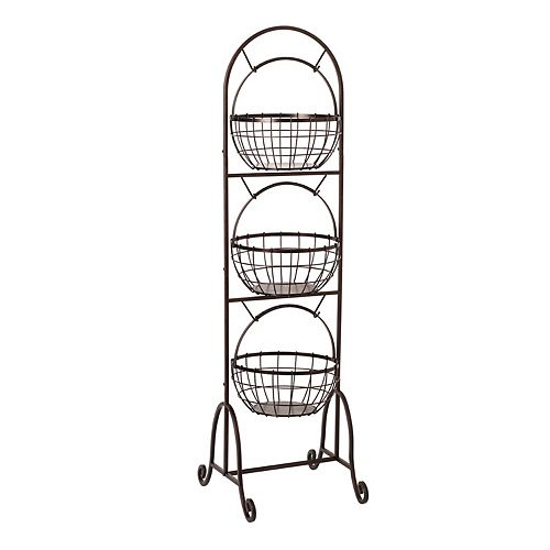 Gourmet Basics Homespun 3-Tier Market Basket