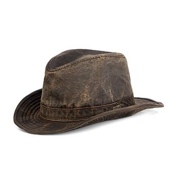 bc4742f380be8 Men s Indiana Jones Weathered Cloth Fedora Hat