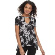 Juniors' Mudd® Keyhole High-Low Hem Tee