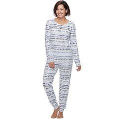 Women's Croft & Barrow® Pajamas: Brushed Knit Tee & Jogger Pants PJ Set