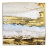 New View Metallic Melted Sand Framed Canvas Wall Art