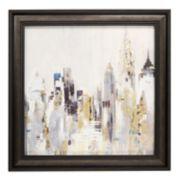 New View Metallic Cityscape Framed Wall Art