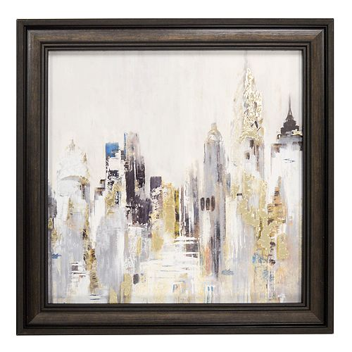 New View Metallic Cityscape Framed Wall Art