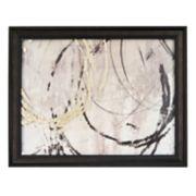New View Metallic Open Circles Framed Wall Art