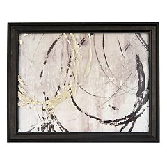 New View Metallic Open Circles Framed Wall Art