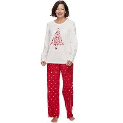 Women's Croft & Barrow® Pajamas: Tee & Fleece Pants PJ Set
