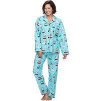 Women's Star & Skye Pajamas: Flannel Top & Pants PJ Set