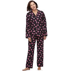 Women's Star & Skye Pajamas: Flannel Top & Pants PJ Set