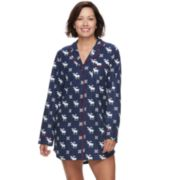 Women's Star & Skye Pajamas: Long Sleeve Flannel Sleep Shirt