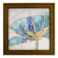 New View Metallic Teal Flower 2 Framed Wall Art