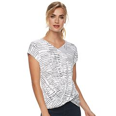 Women's Apt. 9® Twist Front Tee