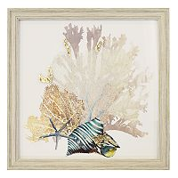 New View Metallic Coral & Shells Framed Wall Art