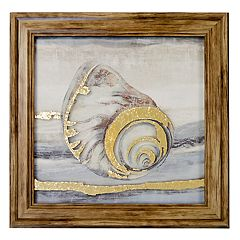New View Metallic Turning Shells Framed Wall Art