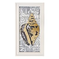 New View Metallic Seashell Framed Wall Art