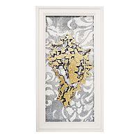 New View Metallic Conch Seashell Framed Wall Art
