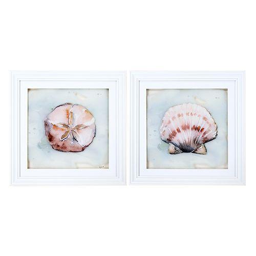 New View Ocean Finds Framed Wall Art 2-piece Set