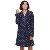 Women's Croft & Barrow® Pajamas: Long Sleeve Sleep Shirt