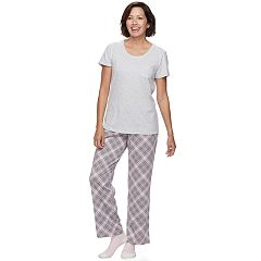 Women's Croft & Barrow® Pajamas: Tee, Pants & Socks PJ Set