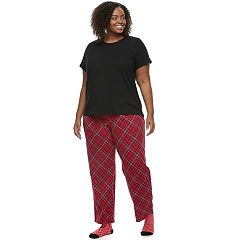 Plus Size Croft & Barrow® Pajamas: Short Sleeve Top, Pants & Socks 3-Piece PJ Set