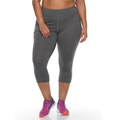 Plus Size Tek Gear® Lattice Capri Leggings