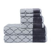Loft by Loftex Lattice Luxe 6 pc Bath Towel Set