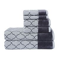 Loft by Loftex Lattice Luxe 6 pc Bath Towel Set