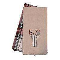 Christmas Deer Kitchen Towel 2-pk.