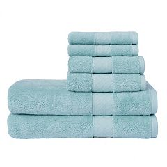 Loft by Loftex Lattice Solid 6-piece Bath Towel Set