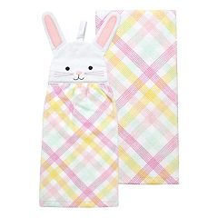 Celebrate Easter Together Bunny Tie-Top Kitchen Towel 2 pk
