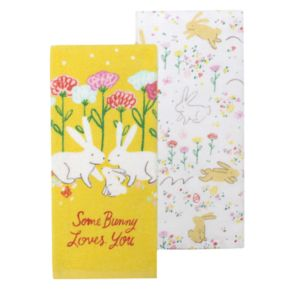 "Celebrate Easter Together ""Some Bunny Loves You"" 2-pk. Kitchen Towel"