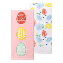 Celebrate Easter Together Egg Patch Kitchen Towel 2 pk