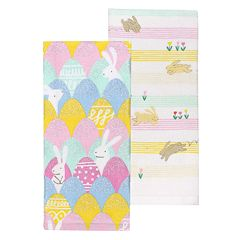 Celebrate Easter Together Bunny Egg Kitchen Towel 2 pk
