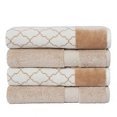 Loft by Loftex Lattice 4-pack Bath Towel