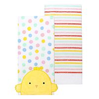 Celebrate Easter Together Chick Face Kitchen Towel 2-pk.
