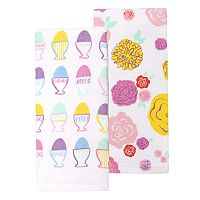 Celebrate Easter Together Egg Cup Kitchen Towel 2-pk.