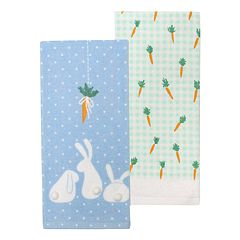 Celebrate Easter Together Bunny Kitchen Towel 2 pk
