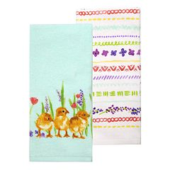 Celebrate Easter Together Natural Chicks Kitchen Towel 2 pk