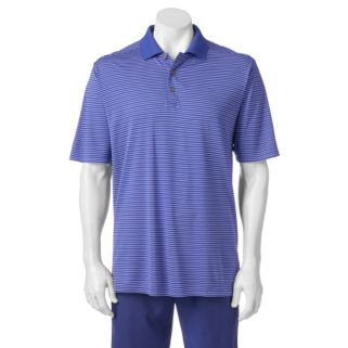 Men's Pebble Beach Classic-Fit Striped Performance Golf Polo