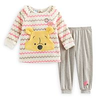 Disney's Winnie the Pooh Baby Girl Top & Jogger Pants Set