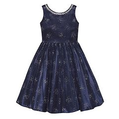 Girls 7-16 & Plus Size American Princess Rhinestone Embellished Dress