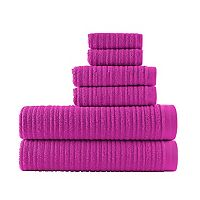Loft by Loftex Cascading Solid 6 pc Bath Towel Set