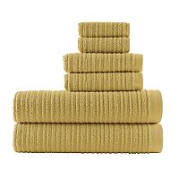 Loft by Loftex Cascading Solid 6-piece Bath Towel Set