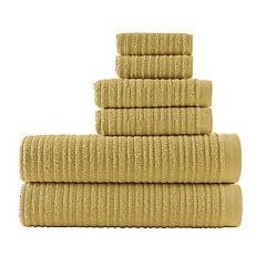 Loft by Loftex Cascading Solid 6 pc Bath Towel Set