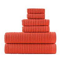 Loft by Loftex Cascading Solid 6-piece Bath Towel Set