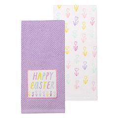 Celebrate Easter Together Easter Windowpane Kitchen Towel 2 pk