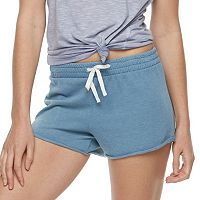 Juniors' SO® Tie Waist French Terry Shorts